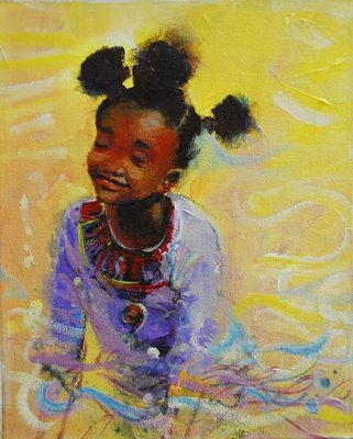 Strange Little Black Girl With Knots In Her Hair Art Black Women39S Short Hairstyles For Black Women Fulllsitofus