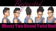 two strand twisted updo