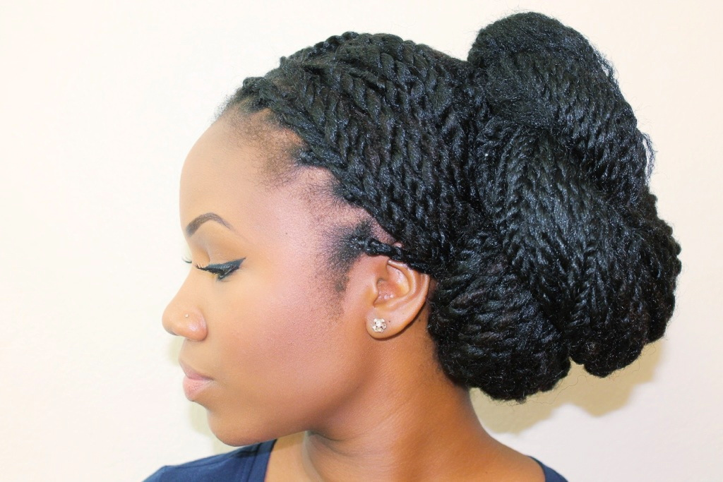 This is just gorgeous Senegalese kinky twist natural hairstyle.