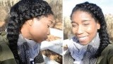 Protective Dutch Side Braid for Natural Hair