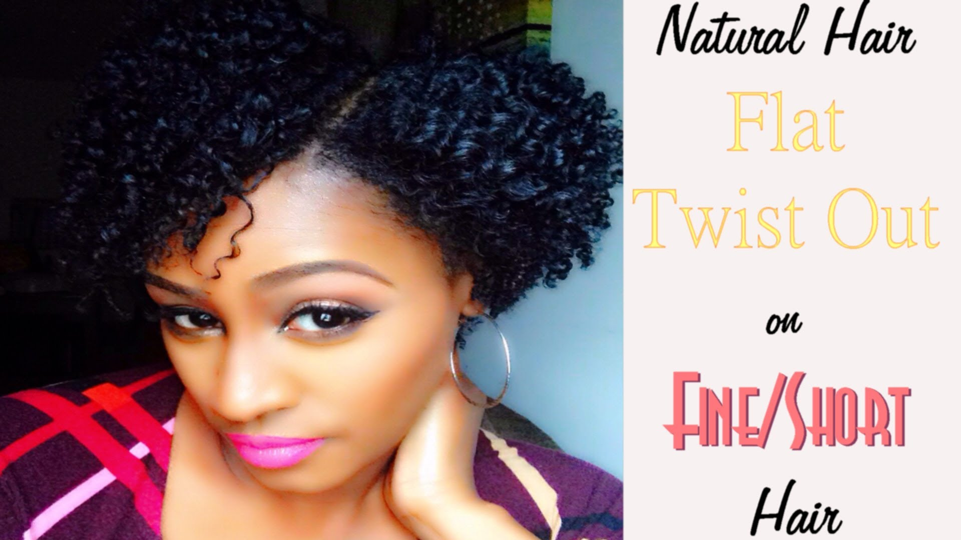 Flat Twist Out On Short Natural Hair