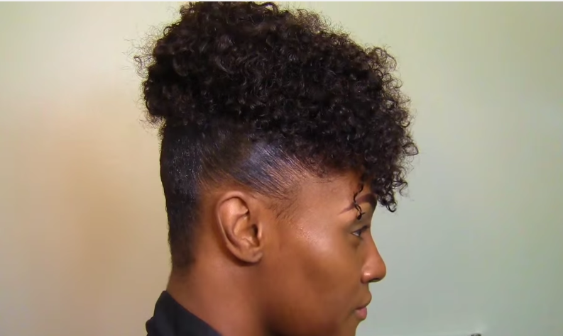 High Puff On Natural Hair With Scarf