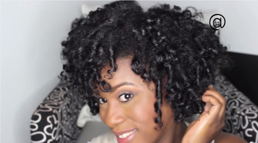 Curling Natural Hair With Flexi Rods Dry Flexi Rod Set on Natural