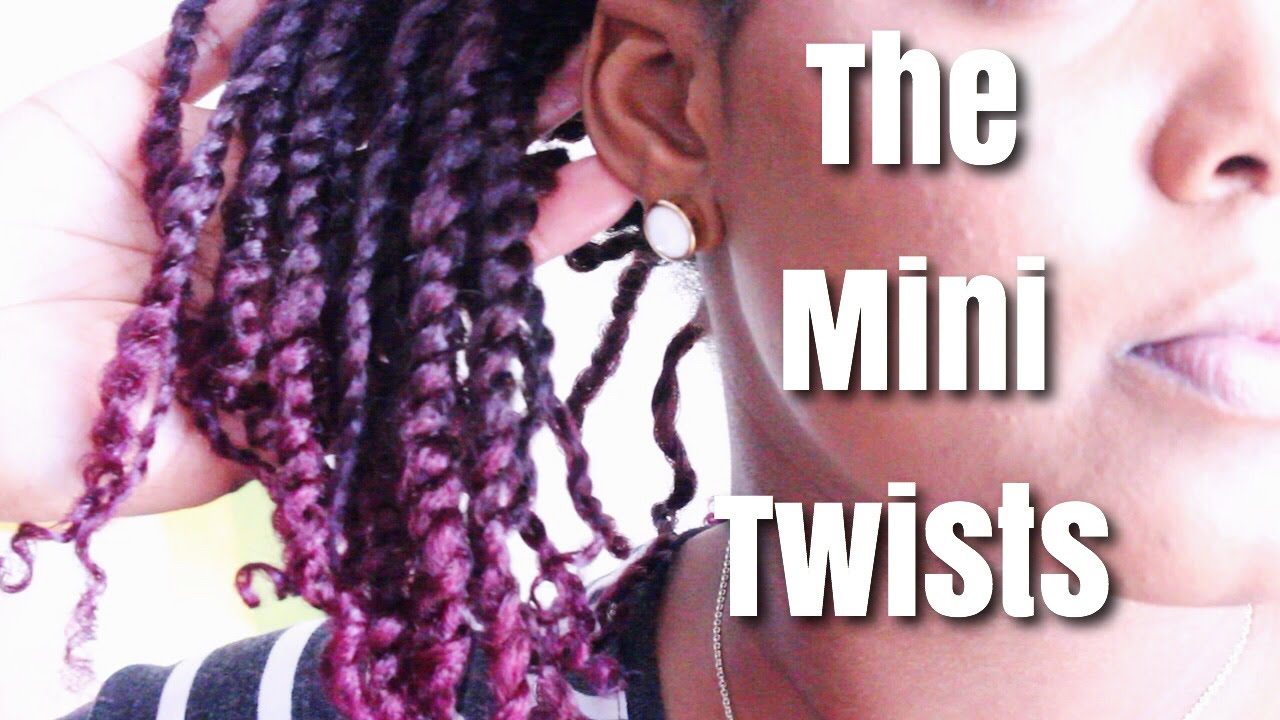 Quick Curly Black Hair Mini Twist Styles For Natural Hair