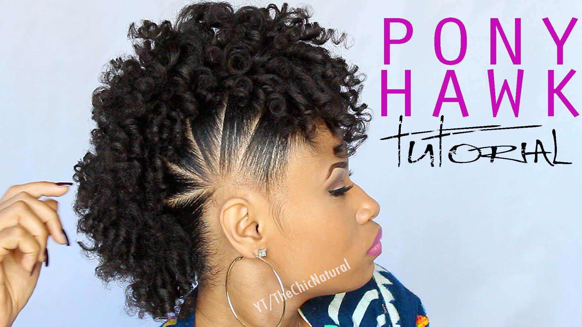All Natural Hair Styles: Fun Pony Hawk Curly Natural Hairstyle Video Tutorial