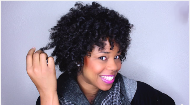 Flexi Rod Hairstyles On Natural Hair