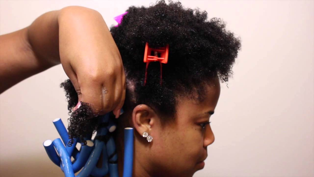 Natural Twist for Black Hair Styles with Rods