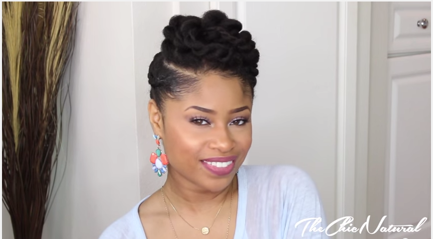 This Protective Twisted Updo Hairstyle Looks So Amazing, You'll Wish ...