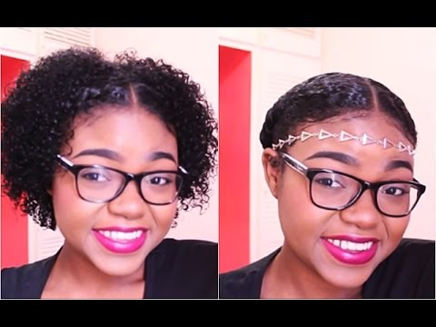 2 quick and simple beginner hairstyles for short natural hair