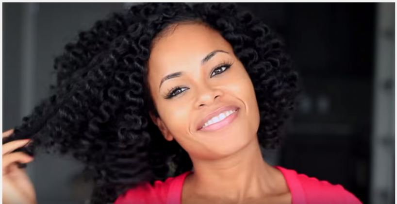 Crochet Braids w Mambo Natural Hair NO Perm Rods