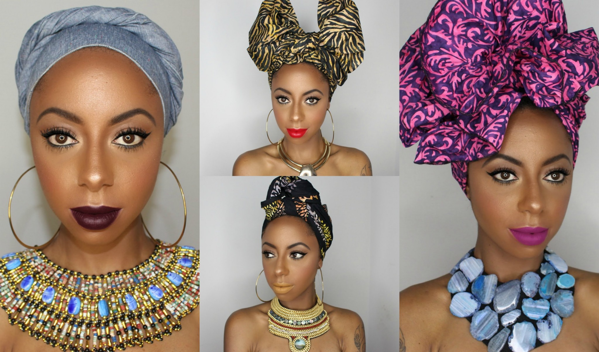 4 Quick, Easy & Artistic Ways To Tie African Head Wrap Styles