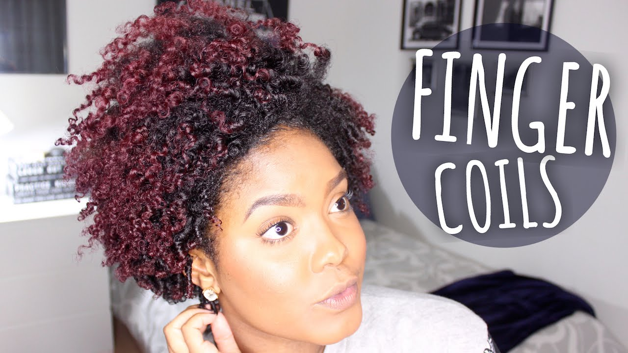 Finger Coils Look Great On Short Natural Hair But On