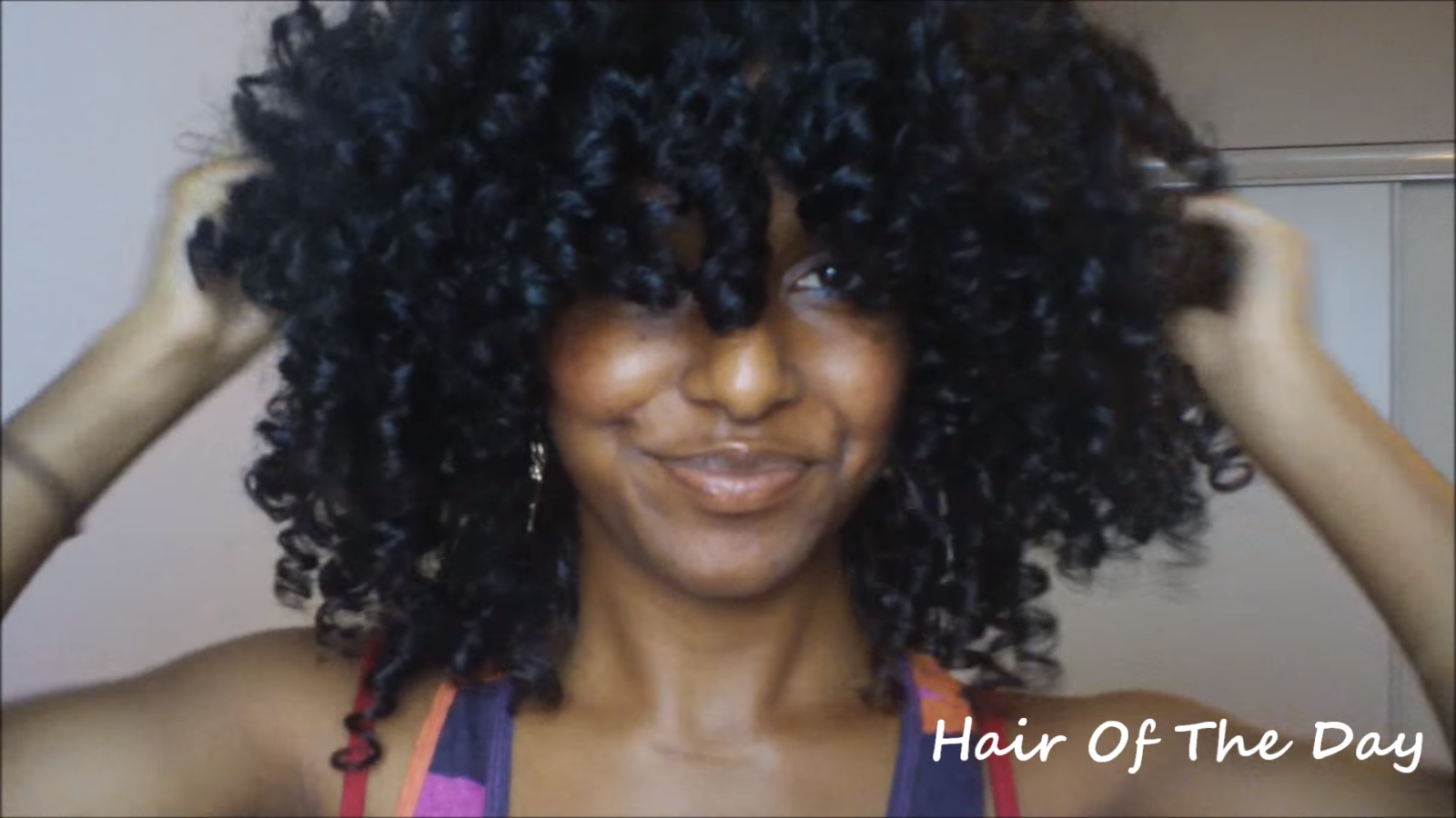 Super Curly Afro Look With Perm Rods