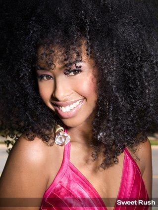 full and vivacious natural hair