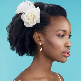 wedding natural hair styles