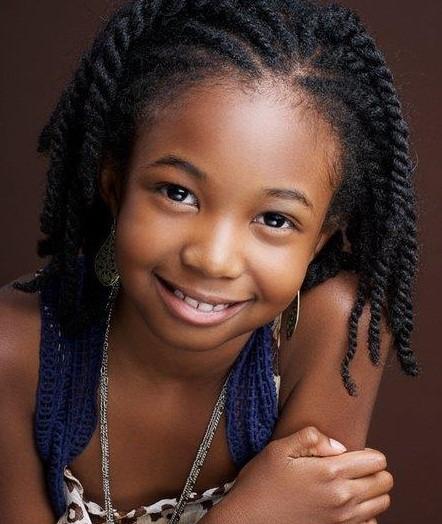 Child Natural Hair Styles Cute As A Button Child Hairstyle  Black Women's Natural Hair .