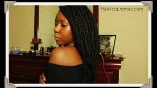 loose twists on natural hair