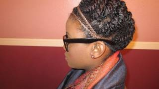 natural hair protective styling updo
