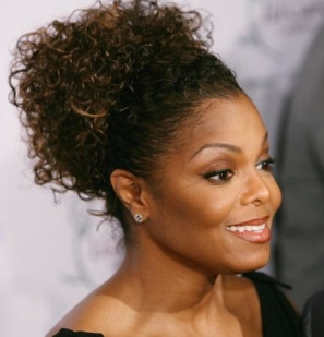 janet jackson with natural hair