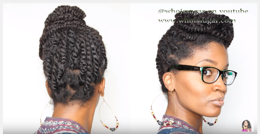 Professional Two Stranded Twist Updo