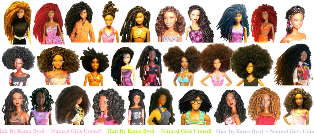 Barbies With Natural Hair Makeover