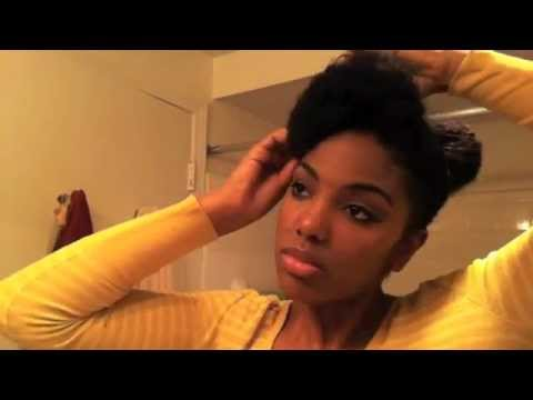 Cute Up-Do with Natural Hair