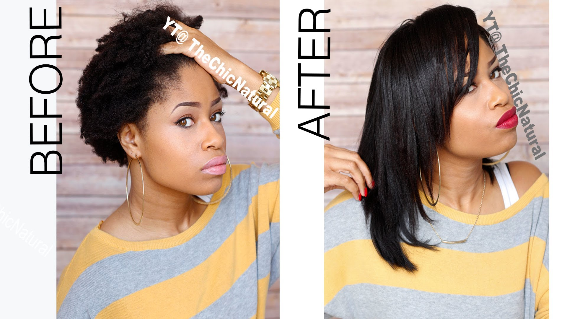 From Kinky To Straight How To Straighten Natural Hair