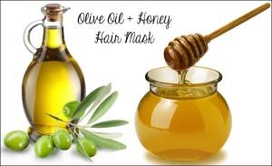 olive oil honey hair