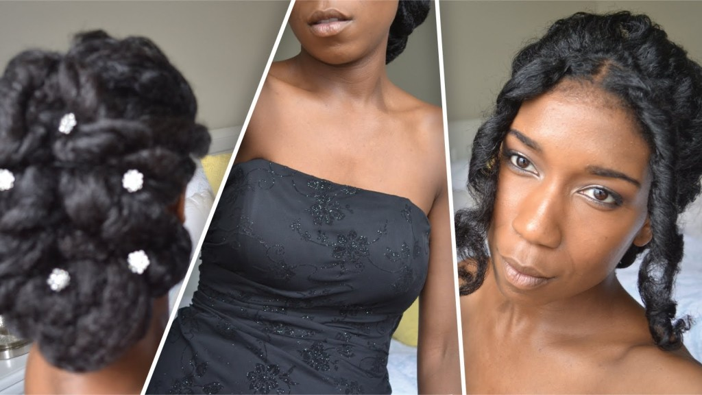 Prom Wedding Updo For Natural Hair