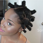 Bantu Knots Out on Natural Hair