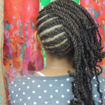 Cornrows and Twists Natural Hairstyle