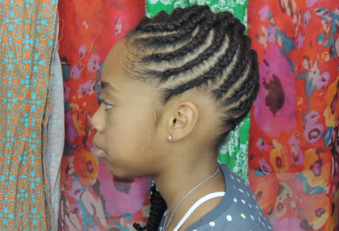 Awesome Easy And Creative Cornrows For Little Girl39S Natural Hairstyle Hairstyle Inspiration Daily Dogsangcom
