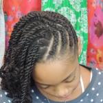 Little girl cornrows