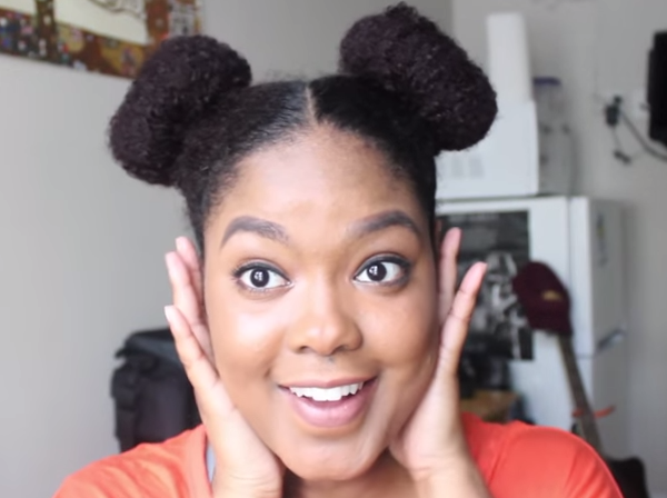 Natural Hair   4 Easy Bun Styles-3
