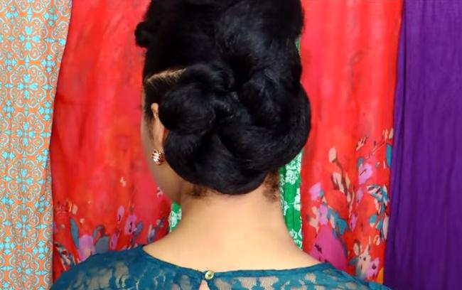 The bun-Natural Hair Protective Hairstyle Twist Bun