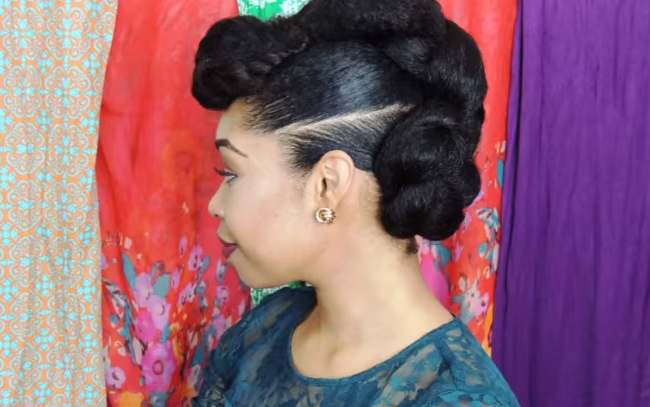 Natural Hair Protective Hairstyle Twist Bun
