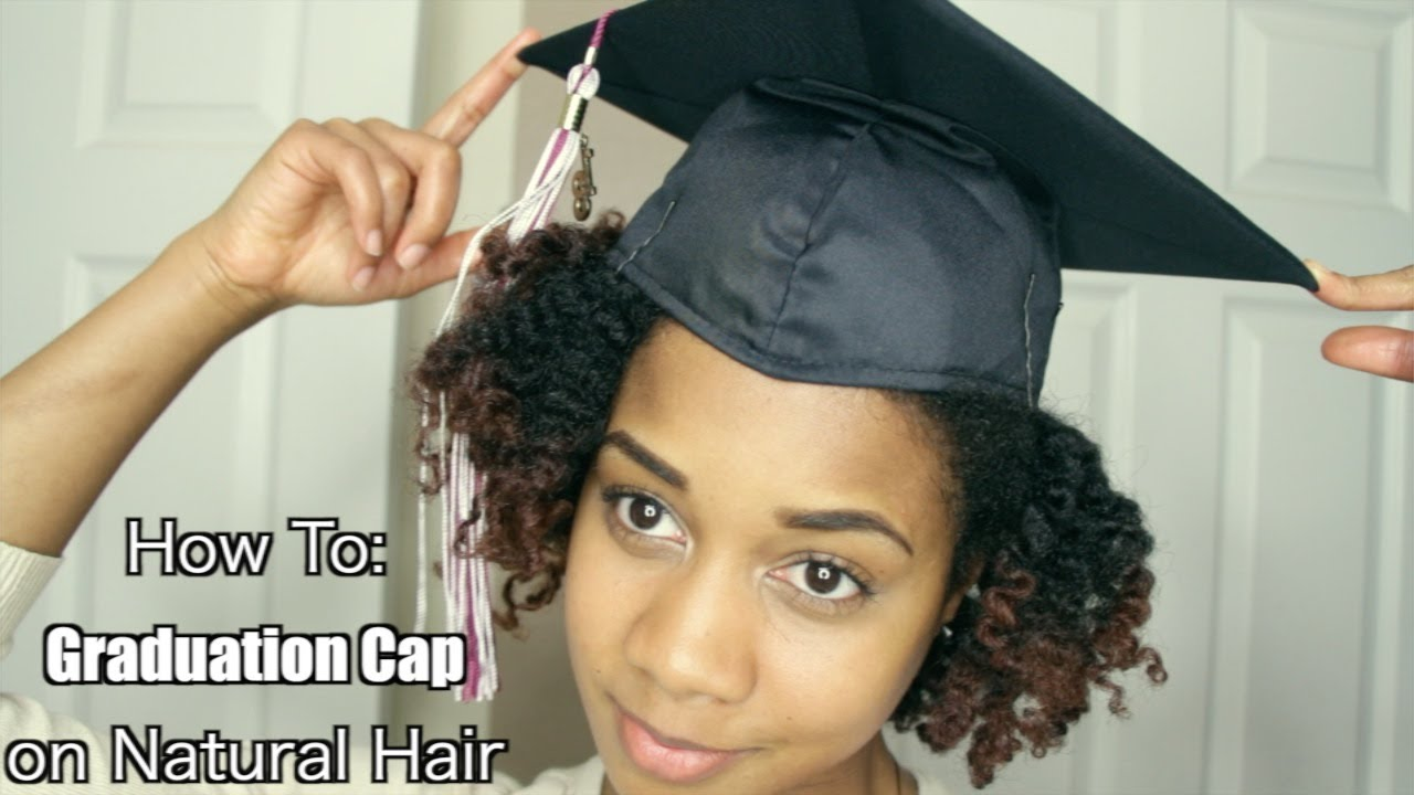 How to Put a Graduation Cap on Natural Textured Hair.