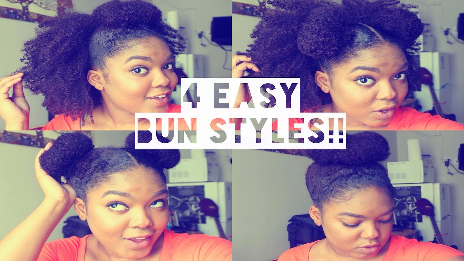 Outstanding 4 Super Easy And Simple Bun Hairstyles Hairstyle Inspiration Daily Dogsangcom