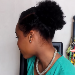 3 Quick Easy style for short Natural Hair wash and go