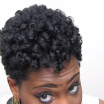 Heatless Rod Set on Tapered Natural Hair