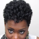 Heatless Rod Set on Tapered Natural Hair featured