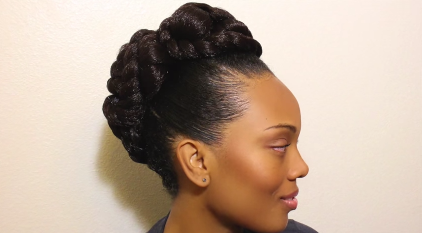 Wild Natural Hair Styles Transitioning To Natural Hair Updo Hairstyle