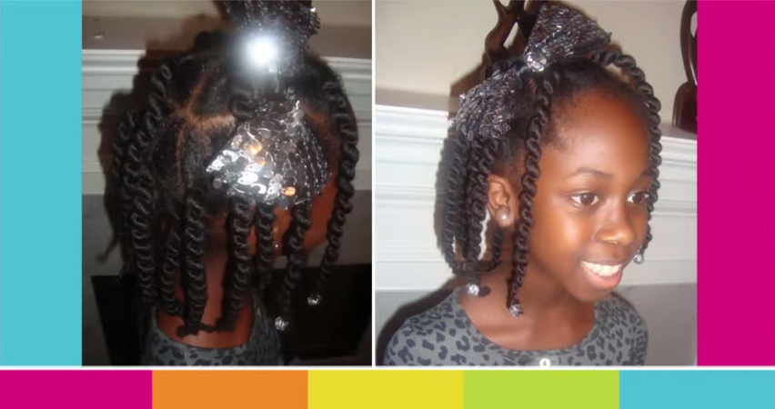 African Box Braids Styles Kids Using Sewing Weave Thread