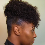 1TWA Natural Hair High Puff