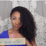 Curly Hairstyles One Side Hair Flip