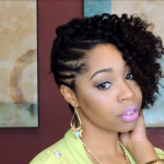 Flat Twist on Natural Hair