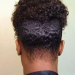 TWA Natural Hair High Puff