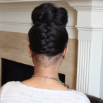 French Braided Bun Updo