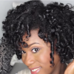 Dry Flexi Rod Set on Natural Hair