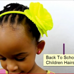 Flat Twist Side Ponytail Natural Kids Back to School Style